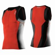 2XU Men's Active Tri Singlet - Triathlon Shirt Herren 001