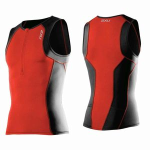 2XU Men's Active Tri Singlet - Triathlon Shirt Herren