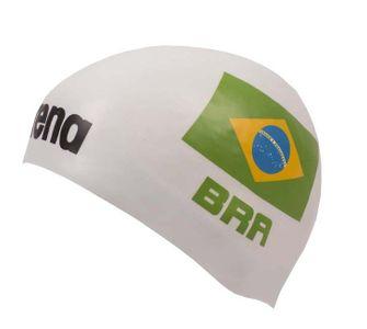 Arena 3D Silikon Badekappe Nationalfahne Brasilien - Limitierte Edition República Federativa do Brasil – Bild 1