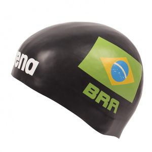 Arena 3D Silikon Badekappe Nationalfahne Brasilien - Limitierte Edition República Federativa do Brasil – Bild 2