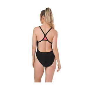 Speedo Boom Placement Thinstrap Badeanzug Damen – Bild 3