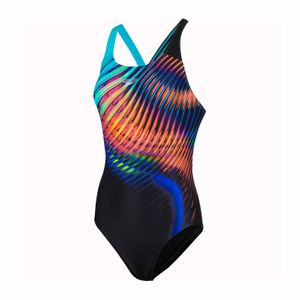 Speedo LightSwirl Powerback Badeanzug Damen
